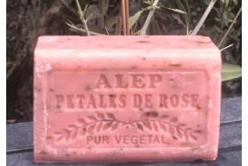 SAVON ALEP PETALES DE ROSES